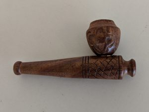 Wooden Pipe (Carved Pattern)